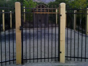 Black Powder Coated Ornamental Iron Fence