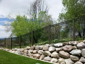IronGuard Ornamental Iron Fencing with Trex Posts