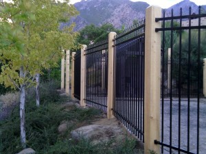 IronGuard Ornamental Iron Fencing with Wood Posts