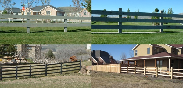 Examples of Rail Fences built with Cedar Materials