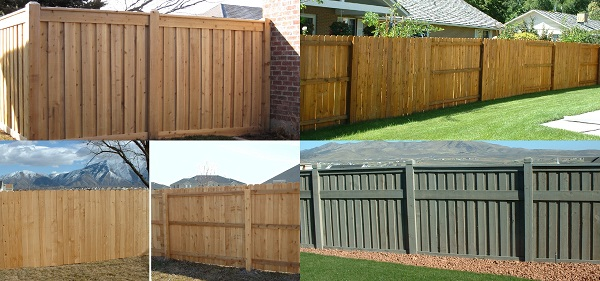 Examples of Cedar Materials for Privacy Fencing