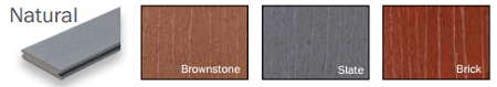 Timbertech Earthwood Evolutions Natural Colors