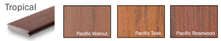 Timbertech Earthwood Evolutions Tropical Colors
