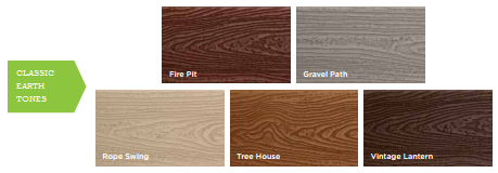 Trex Transcends Earth Tone Colors
