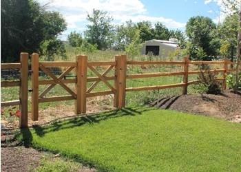 Cedar Split Rail Fencing Gallery