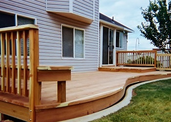 Redwood Decking and Redwood Railing