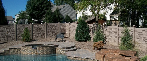 SimTek Simulated Rock Wall Fencing