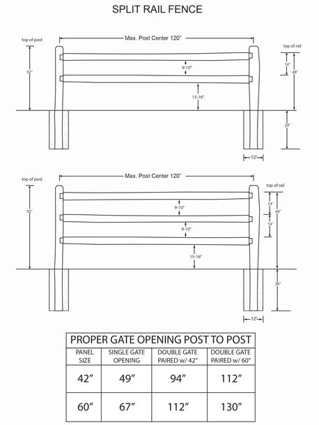 Plan Thumb Split Rail