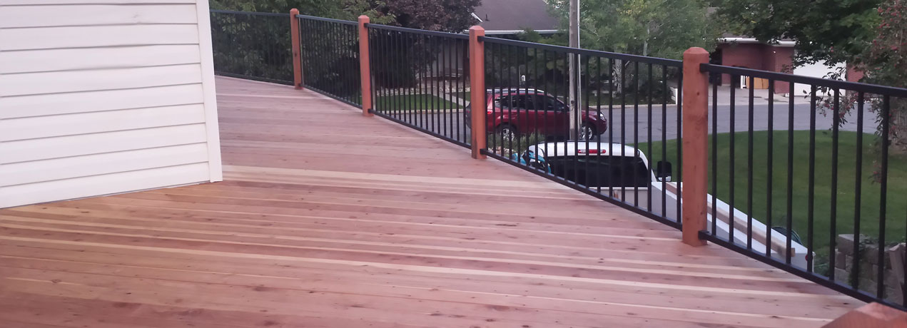 Wood decking fence deck supply for Hardwood decking supply