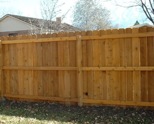 Cedar Dog Ear Fence