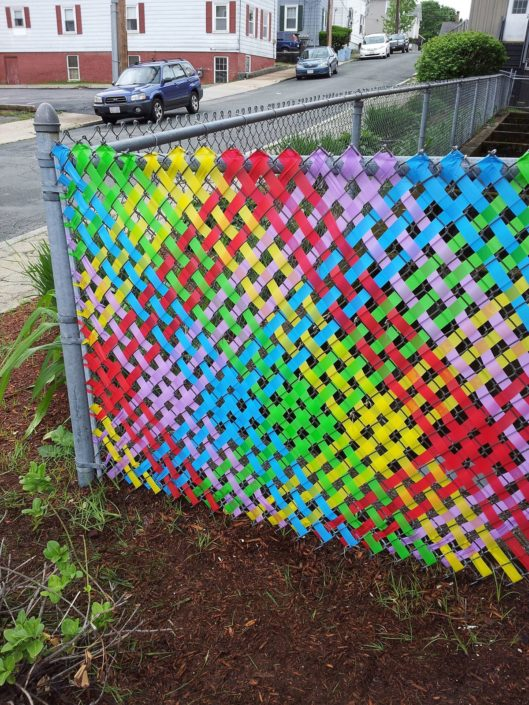 Chain Link Fence Weaving