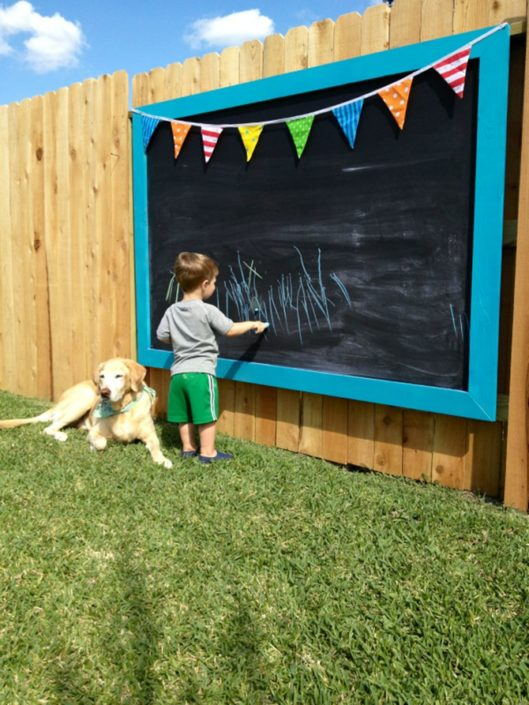 Chalkboard on Fence