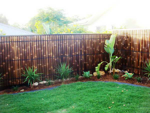 Dark Bamboo Screen for Fence