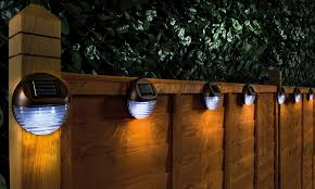 Solar Circle Fence Lights