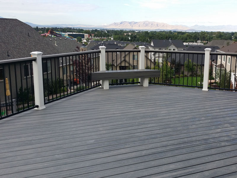 Island Mist Transcend Deck Rail With Bench Fence Amp Deck