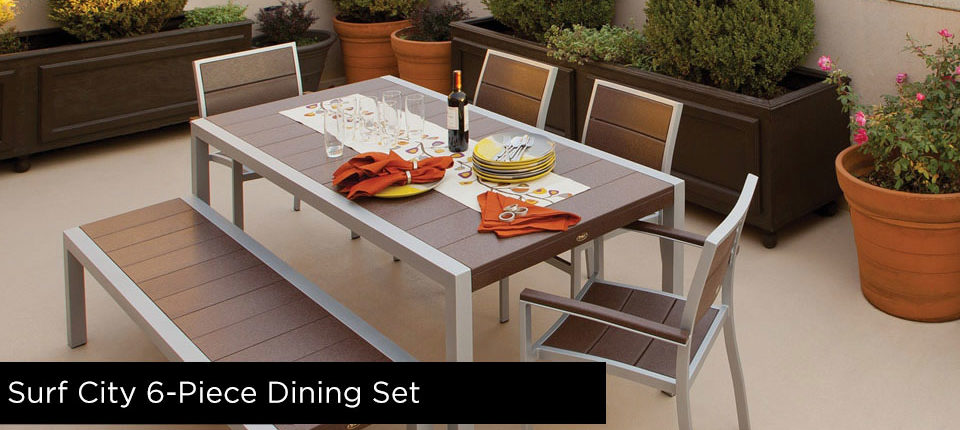 Trex Surf City 6-Piece Dining Set Furniture