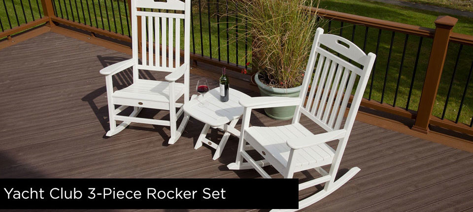 Trex Yacht Club 3-Piece Rocker Furniture Set