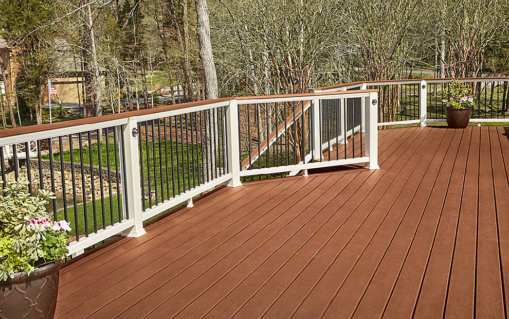 Trex enhance fence deck supply for Composite decking and railing