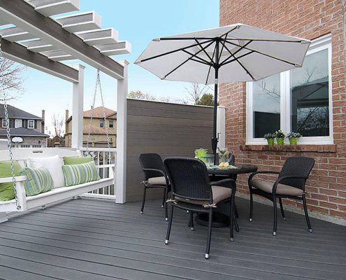 Trex Enhance Clam Shell Decking with Fascia