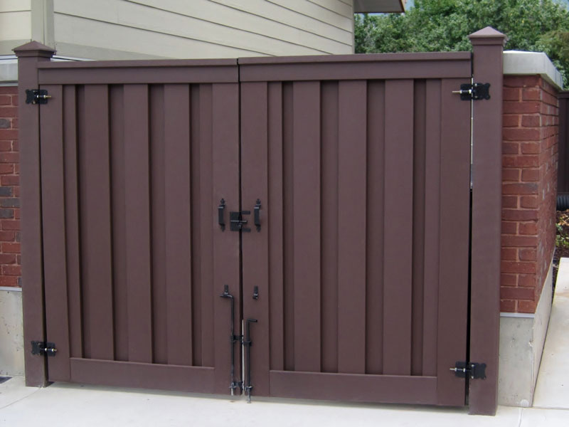 Trex Seclusions Double Gate Woodland Brown