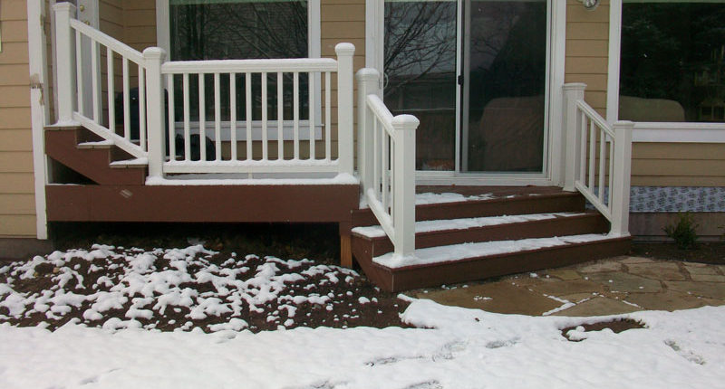Winter Deck and Lawn