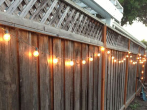 Hanging Fence Lights