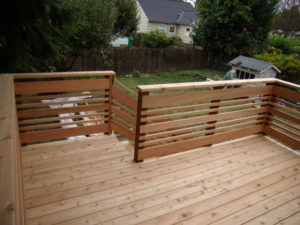 Horizontal Wood Railing