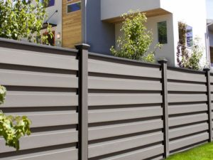 Grey Horizontal Trex fence