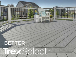 A Trex Select Deck with Logo
